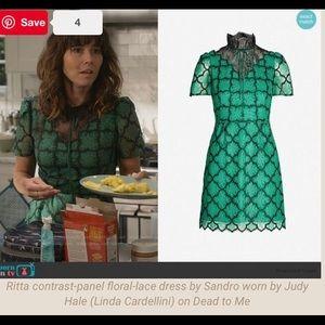 "Sandro Dresses - Sandro ""Ritta Donia Embroidered Chantilly Dress"""